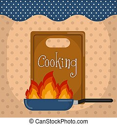 Cooking poster illustration