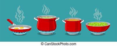 Cooking pot and pan