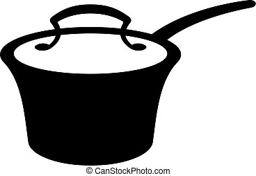 Cooking pot closed with a cover