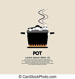 Cooking Pot. - Cooking Pot Vector Illustration.