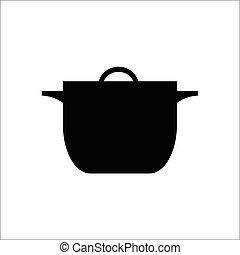 Cooking pot icon , vector