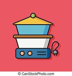 cooking pot vector icon