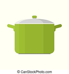 Cooking pot vector illustration isolated