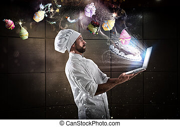 Cooking recipe on web