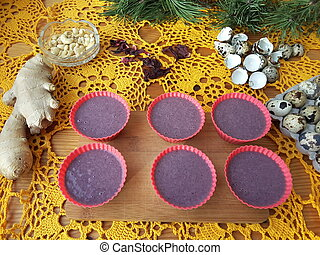 Cooking red muffins with Hibiscus - Hibiscus muffins red...