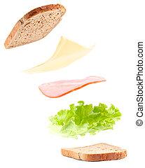 cooking sandwich