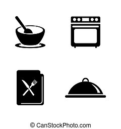 Cooking. Simple Related Vector Icons
