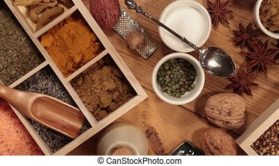 Cooking Spices - HD - A selection of cooking spices - HD