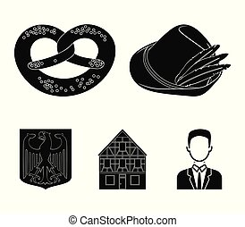 Cooking, symbols, clothing and other web icon in black style. Building, structure, architecture, icons in set collection.