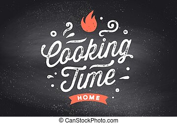 Cooking Time. Kitchen poster. Kitchen Wall Decor, Sign, Quote