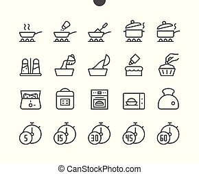 Cooking UI Pixel Perfect Well-crafted Vector Thin Line Icons 48x48 Grid for Web Graphics and Apps. Simple Minimal Pictogram Part 3-3