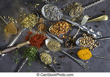 cooking., usato, aggiungere, aroma, spezie