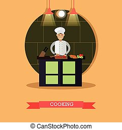 Cooking vector illustration in flat style