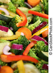 Cooking vegetarian or vegan food vegetables background