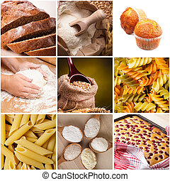 Cooking with wheat flour