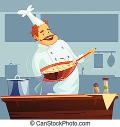 Cooking Workshop Illustration