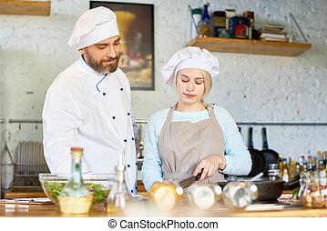 Cooking Workshop in Cafe