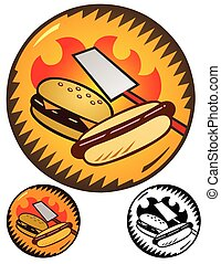 Cookout emblems - graphic for announcing a cookout. Includes...