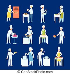 Cooks Flat Icon Set