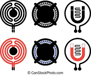 Cooktop icons - Gas, electric and induction cooktop icons....