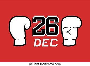 cool 26 dec boxing day symbol - Creative design of 26 dec...