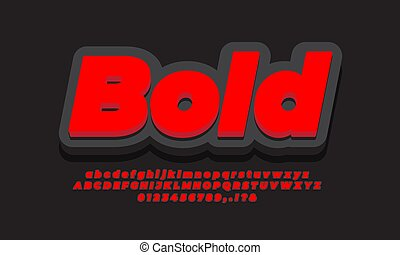 cool 3d red black text effect or font effect design