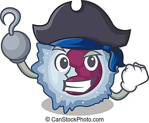 cool and funny monocyte cell cartoon style wearing hat. ...