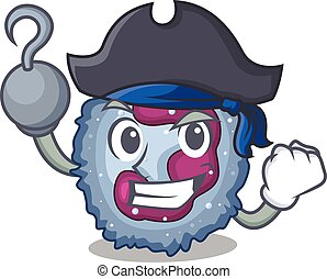cool and funny neutrophil cell cartoon style wearing hat. ...