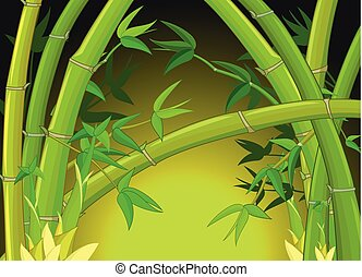 Cool Bamboo Forest Cartoon