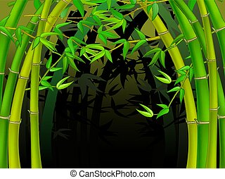 Cool Bamboo Tree Forest cartoon
