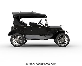 Cool black antique vintage car