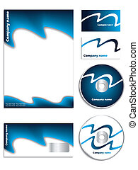 Cool blue company vector set