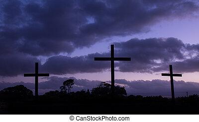 Cool Blue Dawn Crosses