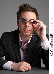 cool business - cool looking businessman with sunglasses