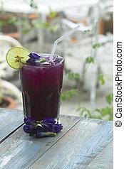 Cool Butterfly pea Juice
