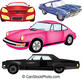 Cool Car Vector Graphic Set