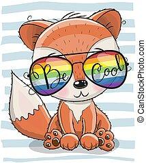 Cute Fox with sun glasses