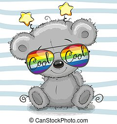 Cute Teddy Bear with sun glasses