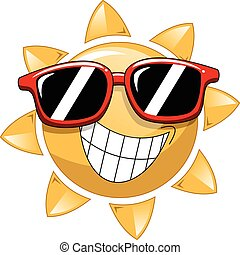 Cool Cartoon Sun sunglasses