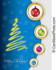 Cool christmas greeting design