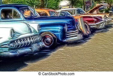Cool Classic Cars at Show
