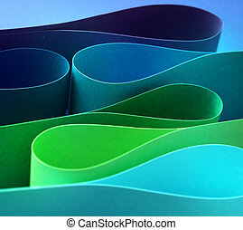Cool color arc wave form - Cool colors palette arc wave form...
