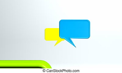 cool colorful conversation icons