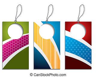 Cool colorful label set
