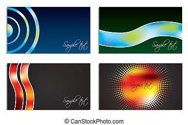 Cool colors business card set of four