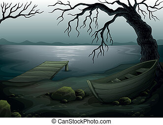 Cool creepy forest - Illustration of a cool creepy forest