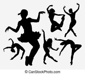 Cool dancing silhouette