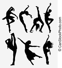 Cool dancing silhouette