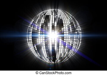 Cool disco ball design in white