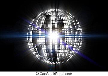 Cool disco ball design in white